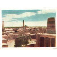 Хива. Общий вид города. Советский художник, 1965 г.