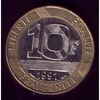 10 Франков 1991 год Франция