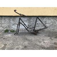 Рама от велосипеда, львовский, дамский, послевоенный