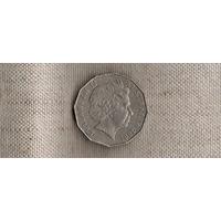 Австралия 50 центов 2001/ фауна(Sp)
