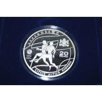 Грузия 20 LARI 2008g. 'CITIUS ALTIUS FORTIUS'. серебро 925, распродажа