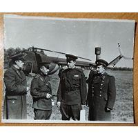 """Фото офицеров на военных учениях """"Днепр"""". 1967 г. 12х15 см."""