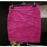 Юбка RESERVED модный цвет - цвет марсала, размер S 44