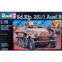 "Сборная модель Немецкий бронетранспортёр ""Ханомаг""SD.KFZ.25/1 AUSF.B (REVELL) 1/76"