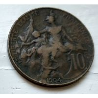 Франция 10 сантимов, 1904 2-5-11