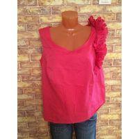 Шикарная, стильная и красивая блуза на 54-56 размер, насыщенно-розового цвета, шила под заказ, дорого. Ткань покупала Италию, в дорогом магазине. Смотрится очень шикарно на 54-56 размере.