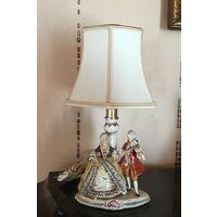 Торги!Лампа- Статуэтка Старинная Пара  Carl Schneider Германия  середина XX века