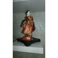 Коллекционная японская кукла гейша. Кабуки
