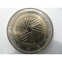 Латвия 2 евро 2015 г. Президентства Латвии в Совете ЕС. (юбилейная) UNC!