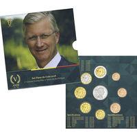 Бельгия 2018 Официальный годовой набор Евро и медаль 5 лет правления короля Филиппа UNC