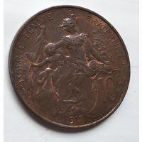 Франция 10 сантимов, 1917 3-12-24