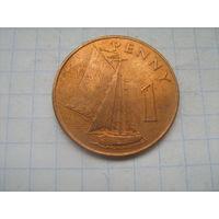 Брит.Гамбия 1 пенни 1966г.km1