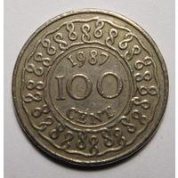 Суринам. 100 центов 1987г.