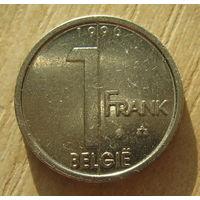 Бельгия 1 франк 1996 год  (BELGIЁ)