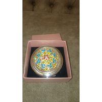 Новое шикарное косметическое зеркальце в подарочной упаковке со стразами (обычное и с увеличением)