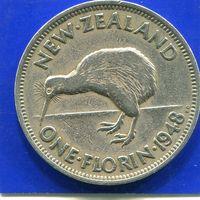 Новая Зеландия 1 флорин ( 2 шиллинга ) 1948 , George VI