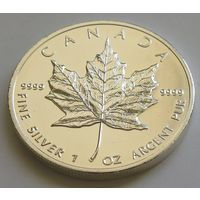 "Канада 2013 серебро (1 oz) ""Кленовый лист"""