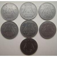 Индия 1 рупия 1996, 1997, 1999, 2000, 2001, 2002 гг. Цена за 1 шт. (g)