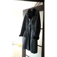 Пальто кожанное дубленка пропитка 44 размер