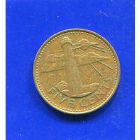 Барбадос 5 центов 1994