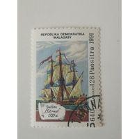 Мадагаскар 1991. 500 лет открытия Америки. Корабли. Флот.