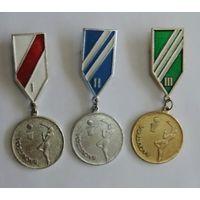 "Медаль ""Баскетбол"" 1, 2 и 3 место. 3 шт. СССР. Алюминий."