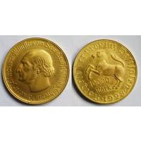 10000 марок 1923 сохран позолота