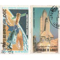 Марки Джибути-1980- Airmail - Покорение космоса