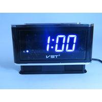 Настольные Сетевые LED часы VST-721, Будильник