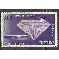 Израиль. Авиапочта. Экспортные товары. 1968г. Mi#415.
