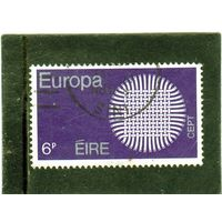 Ирландия. Mi:IE 239. Серия: Европа (C.E.P.T.) 1970 - Пылающее солнце.