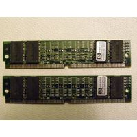 16 MB Set 2x HP 1818-6172-01 8 MB 60 ns 72-pin SIMM non-parity RAM modules