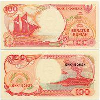 Индонезия. 100 рупий (образца 1992 года, выпуск 1995 года, P127d, UNC)