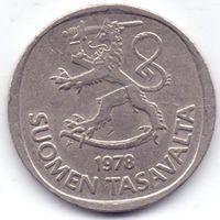 Финляндия, 1 марка 1978 года, К.