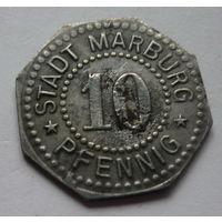 Германия. 10 пфеннигов 1917г.MARBURG.