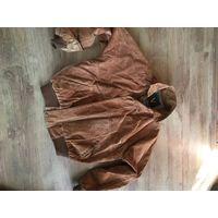 Замшевая  импортная  куртка  из 90-х. Очень приличный  сохран-почти не носилась.