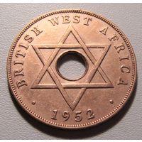 """Британская Западная Африка. 1 пенни 1952 год KM#30a """"Король Георг VI"""""""