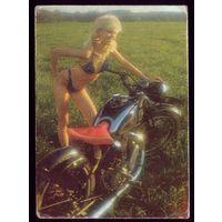 1 календарик Эстония Кикимора и мотоцикл