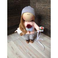 Куколка интерьерная, полностью ручная работа, рост 35 см