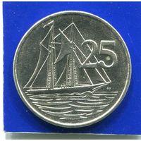 Каймановы острова 25 центов 1992