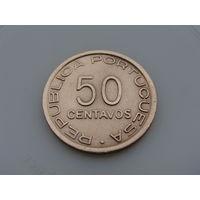 """Мозамбик """"Португальская колония"""" 50 сентаво 1945 год KM#73 Редкая!!!"""