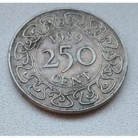 Суринам 250 центов, 1989 6-12-8