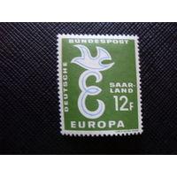 "Саар 1959 Европа 1958 - Буква ""Е"". Земли Германии. Saar - Mi:DE-SL 439*"