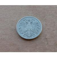Австро-Венгрия, 10 геллеров 1916 г., более редкий тип с флагом Австрии на груди орла. Выпуск только 1916 года.