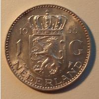 Нидерланды. 1 гульден. 1955. Серебро.