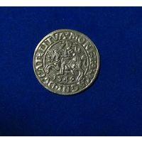 Полугрош 1549, Жигимонт Август, Вильно. Окончания легенд: Ав - LI, Рв - LITVA.  Штемпельный блеск , коллекционное состояние.