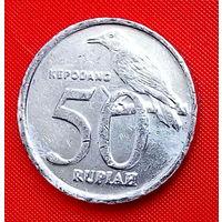 34-06 Индонезия, 50 рупий 2002 г. Единственное предложение монеты данного года на АУ