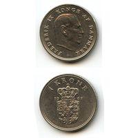 Дания 1 крона 1967 г. KM#851.1
