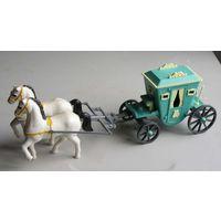 Карета с лошадьми модель времен СССР