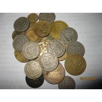 Сталинские монеты сборный лот 28штук без повторов (1,2,3,5,15,20 копеек)